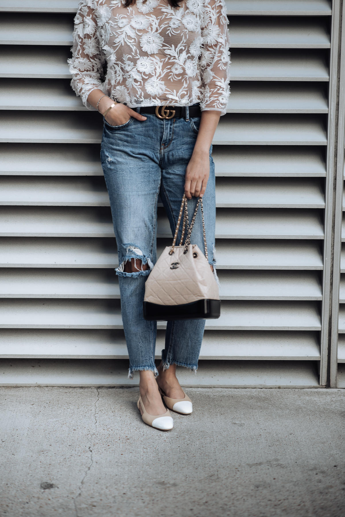Image of Summer time | lace top | The Cultured Fashionista | Chanel Handbag
