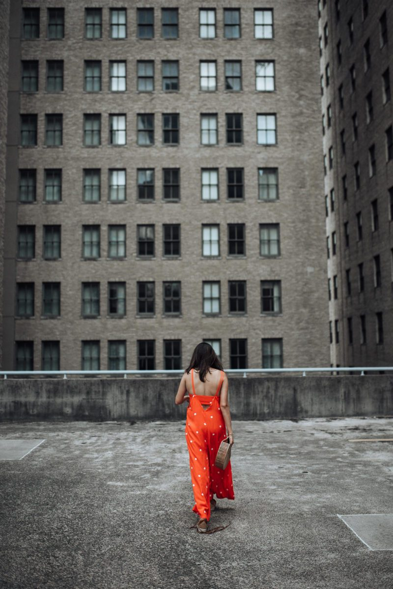 Image of polka dot jumpsuit | free people jumpsuit | The cultured fashionista