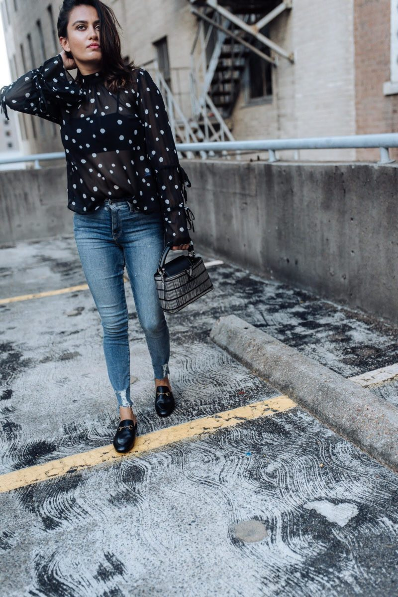 Image of nordstrom sale | good american jeans | topshop top | gucci slides | the cultured fashionista
