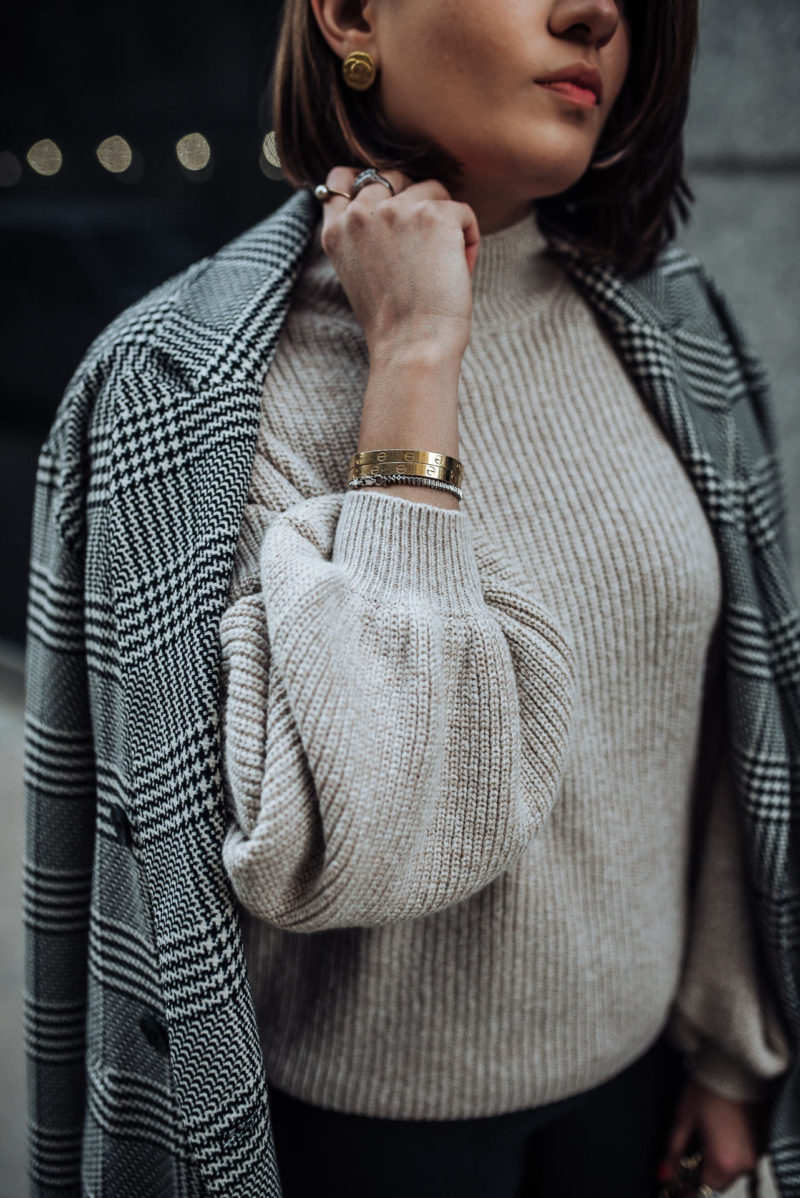Image of Best Fall Seater | Nordstrom Sweater | The Cultured Fashionista | Plaid Blazer